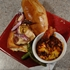 Game day Grilled Pork Chop and Chianti Cheese Fondue Sandwich and Tailgate Baked Beans