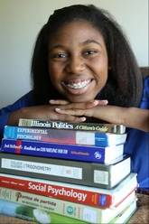 At just 14, Thessalonika Arzu-Embry will be graduating Chicago State University in August with a bachelor's degree in psychology. The Great Lakes Naval Base resident plans to continue in a graduate program before opening a clinic with her mother.