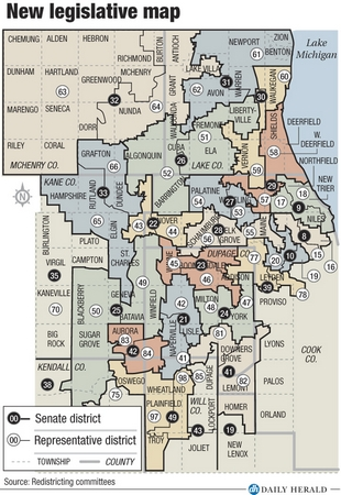 Map of new Legislative districts