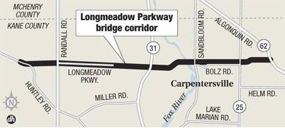 Longmeadow Pkwy bridge