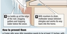 Dealing with ice dams