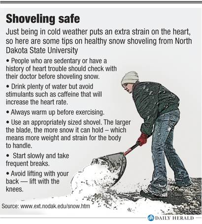 Safe shoveling tips