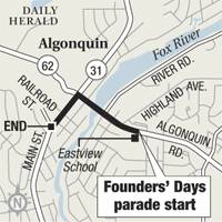 Founders' Day parade route