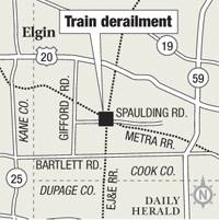 Train derailment site
