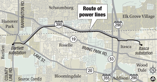 Proposed power lines