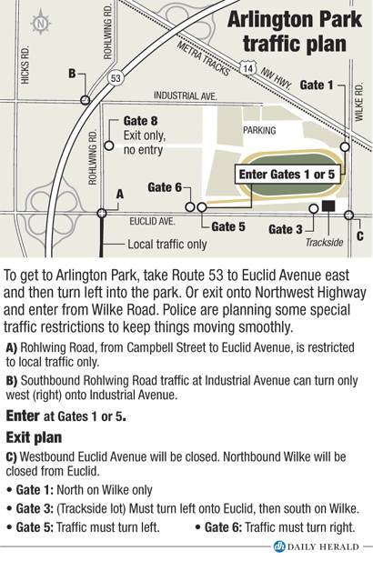 Arlington Park traffic plan