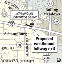 Proposed tollway exit