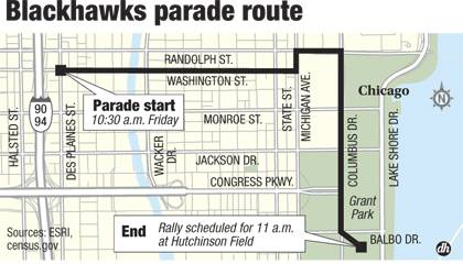 Hawks parade route