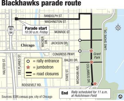 Blackhawks parade, rally