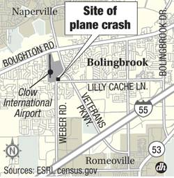 Plane crash site