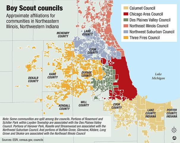 Scout Council areas