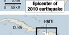 Epicenter of the 2010 quake
