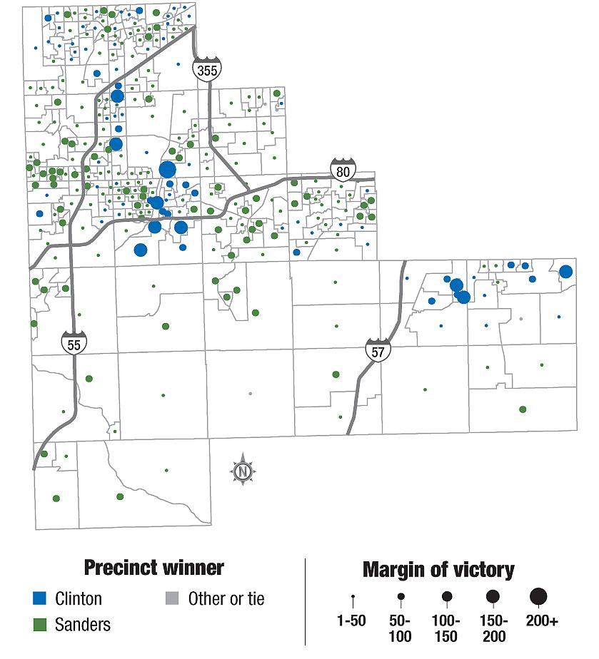 Illinois Us Congressional 13 Precinct Map B County illinois 7th