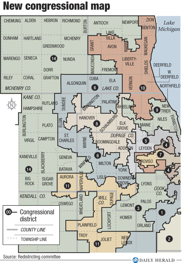 New IL congressional map