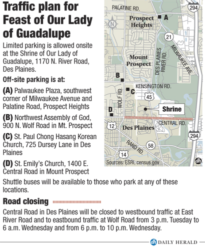 Feast day traffic plan