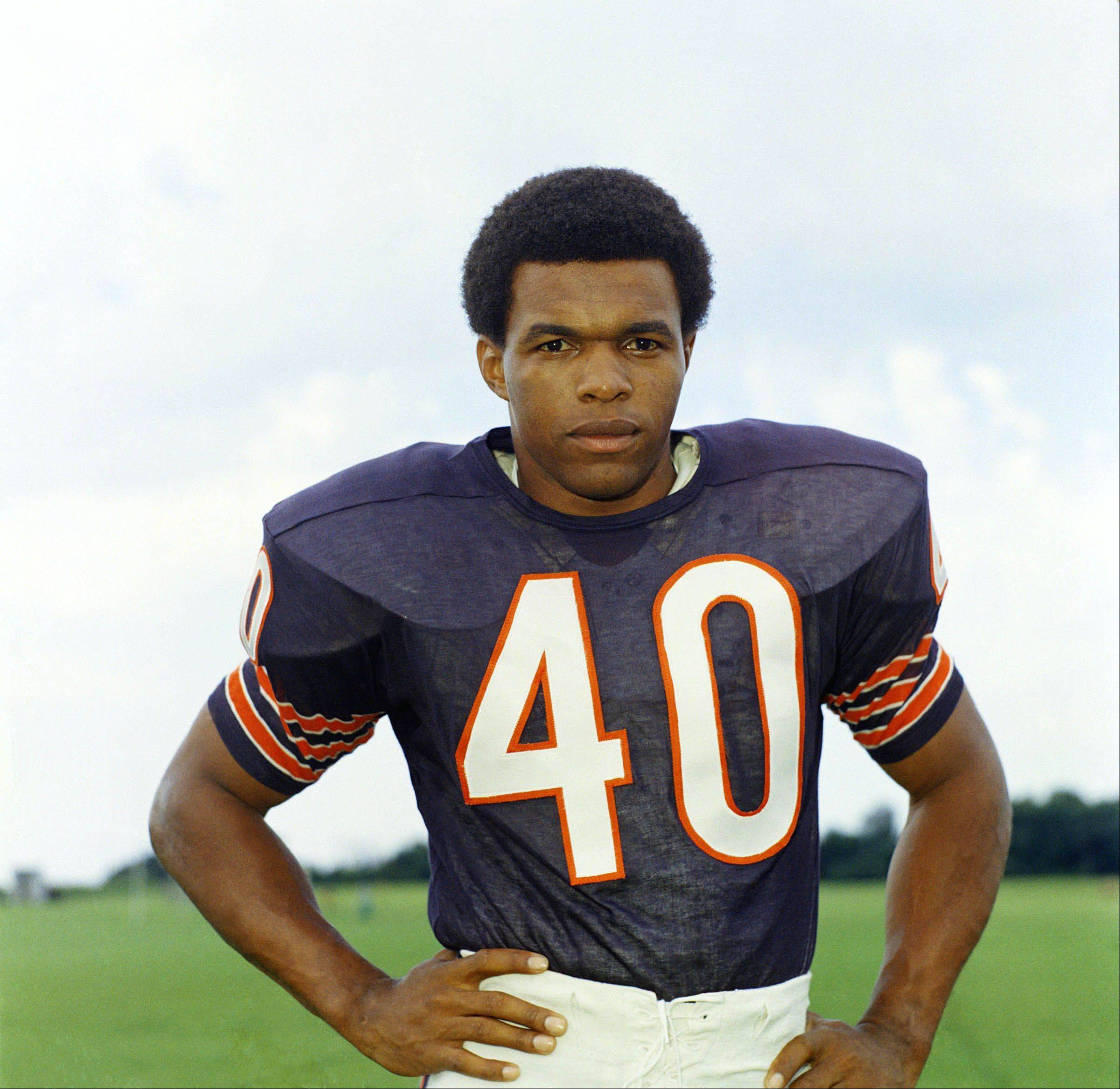 Associated PressGale Sayers, football player for the Chicago Bears, 1970.