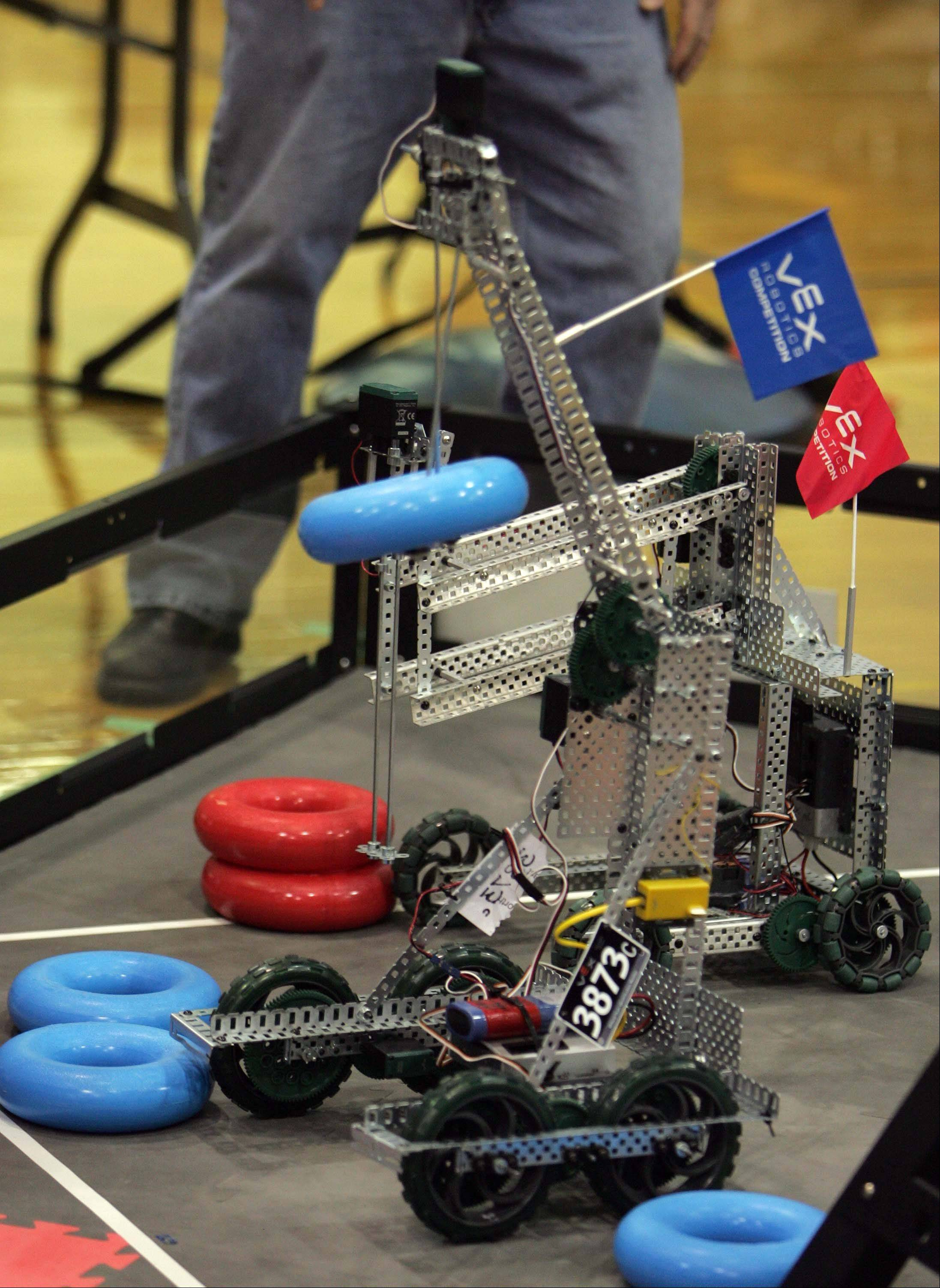Watch as 400 middle and high school VEX Robotics students from around the Midwest area compete in the Great Lakes-Midwest-Illinois Vex Robotics Championship on Saturday, Feb. 2, at Rotolo Middle School in Batavia.