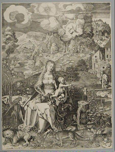 "The engraving ""Virgin and Child with a Multitude of Animals (c.1597)"" by Aegidius Sadeler II (after Albrecht Dürer) will be on display courtesy of the Mary & Leigh Block Museum of Art at Northwestern University."