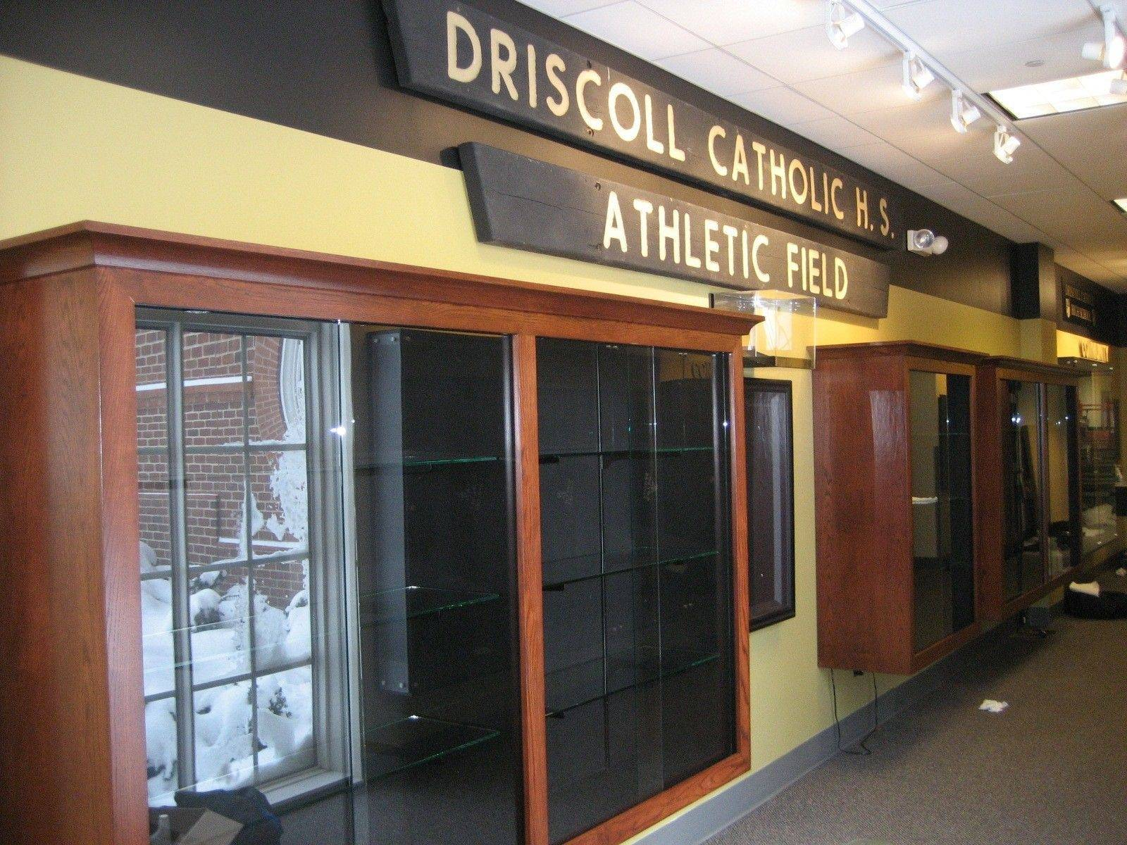 Work is about 75 percent finished at the Driscoll Legacy Corridor inside Addison village hall. Organizers say the official opening for the homage to the shuttered Driscoll Catholic High School is set for April.