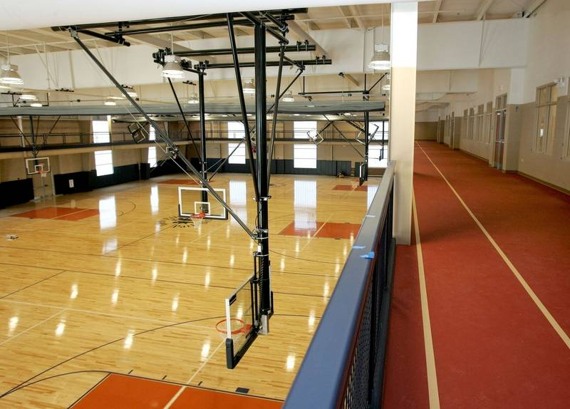 Glen ellyn 39 s ackerman center opens saturday for Basketball gym dimensions