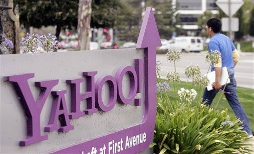 Yahoo reported stronger fourth quarter profits.