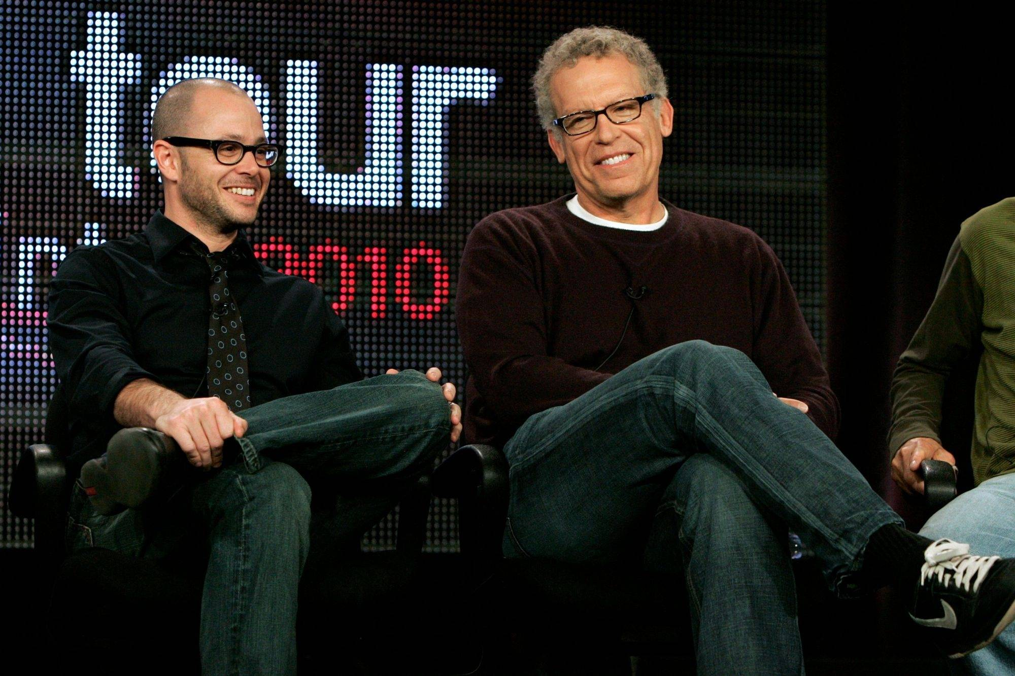 """Lost"" producers Damon Lindelof, left, and Carlton Cuse promise answers - but not all the answers."