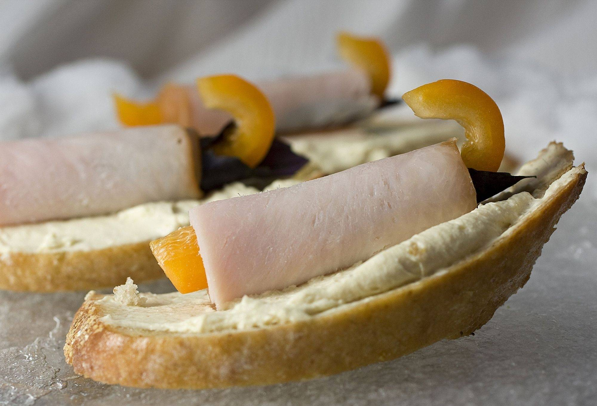 These creamy turkey Dijon crostini will fly off the platter about as fast as a skeleton sled flies down the hill.