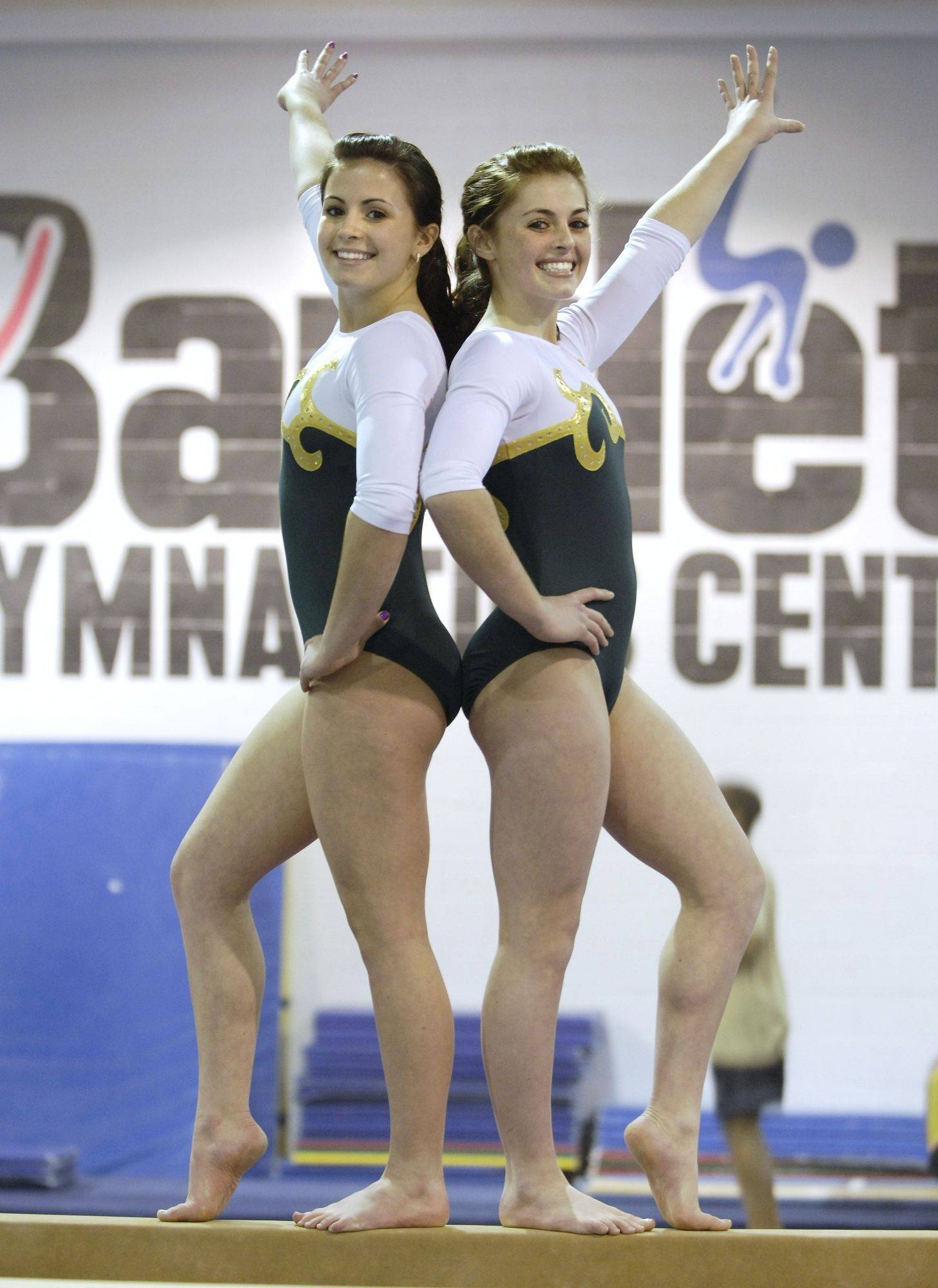 Sisters Jordyn and Abby Madden of St. Edward have had great success in high school gymnastics meets this season.