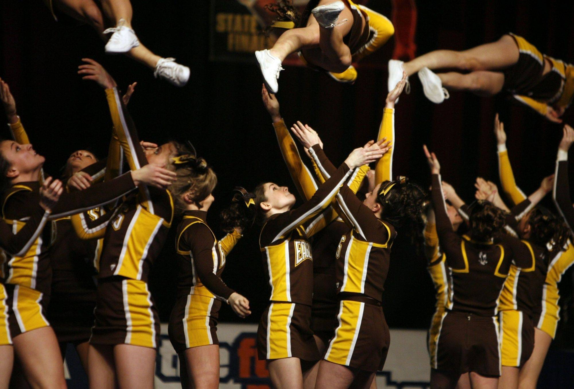 Jacobs performs Friday at the IHSA state cheerleading competition in Bloomington.