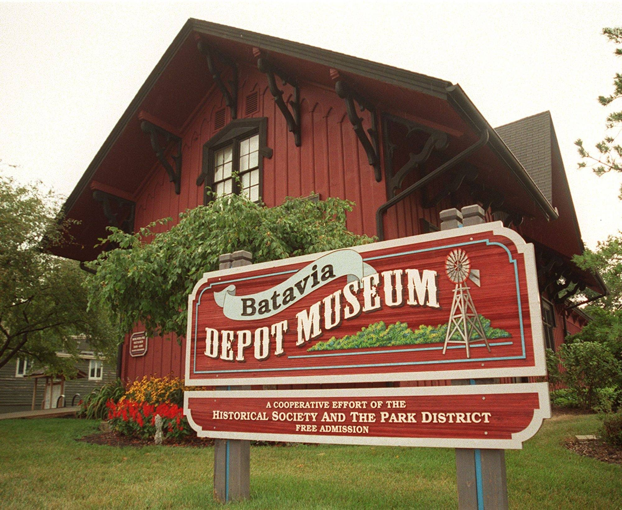 The Depot Museum near the Batavia Riverwalk.