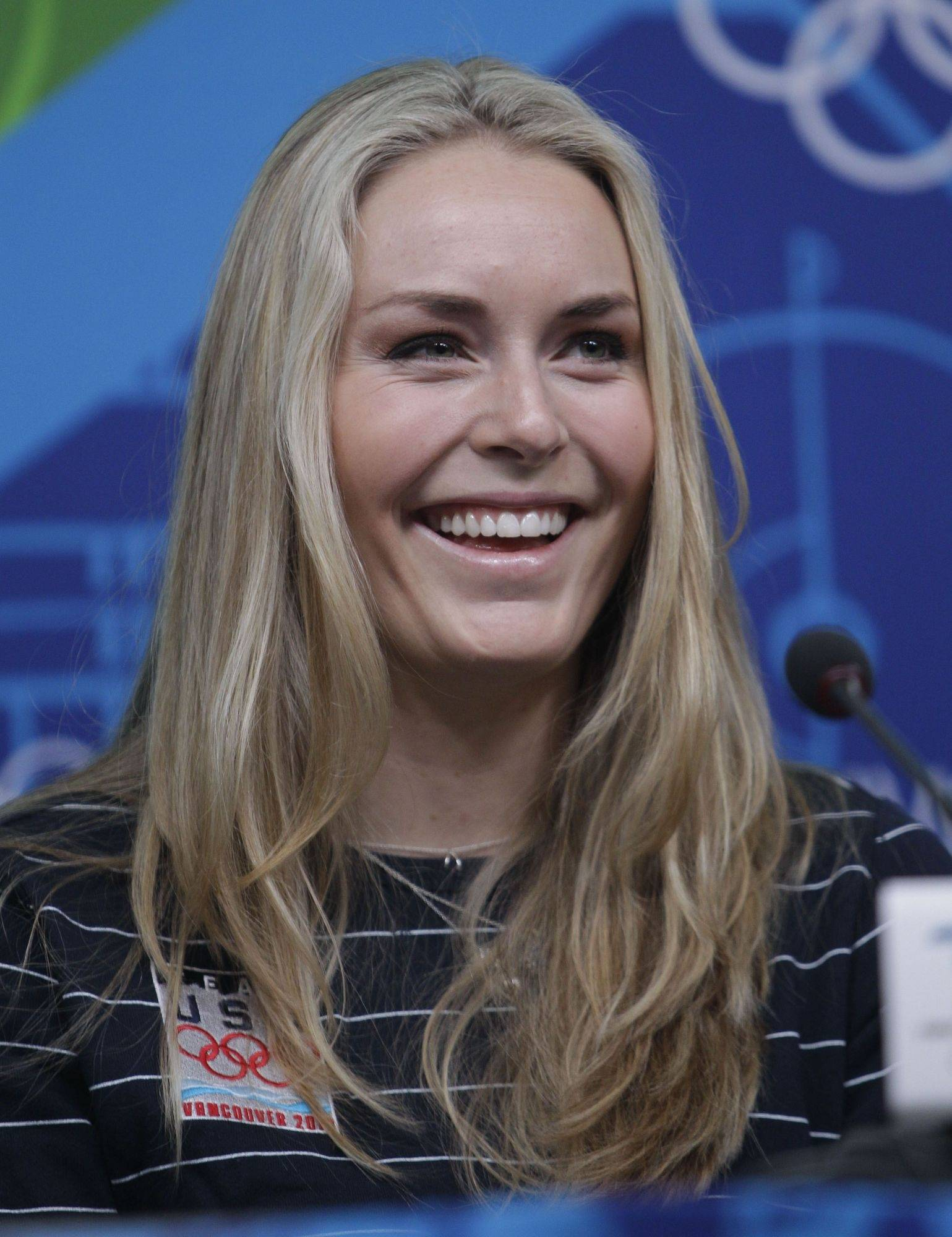 "Alpine skier Lindsey Vonn says she feels her injured shin is ""finally progressing a bit."""