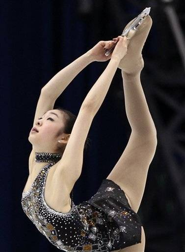 South Korea's Kim Yu-Na performs her short program during the women's figure skating competition at the Vancouver 2010 Olympics in Vancouver, British Columbia, Tuesday.