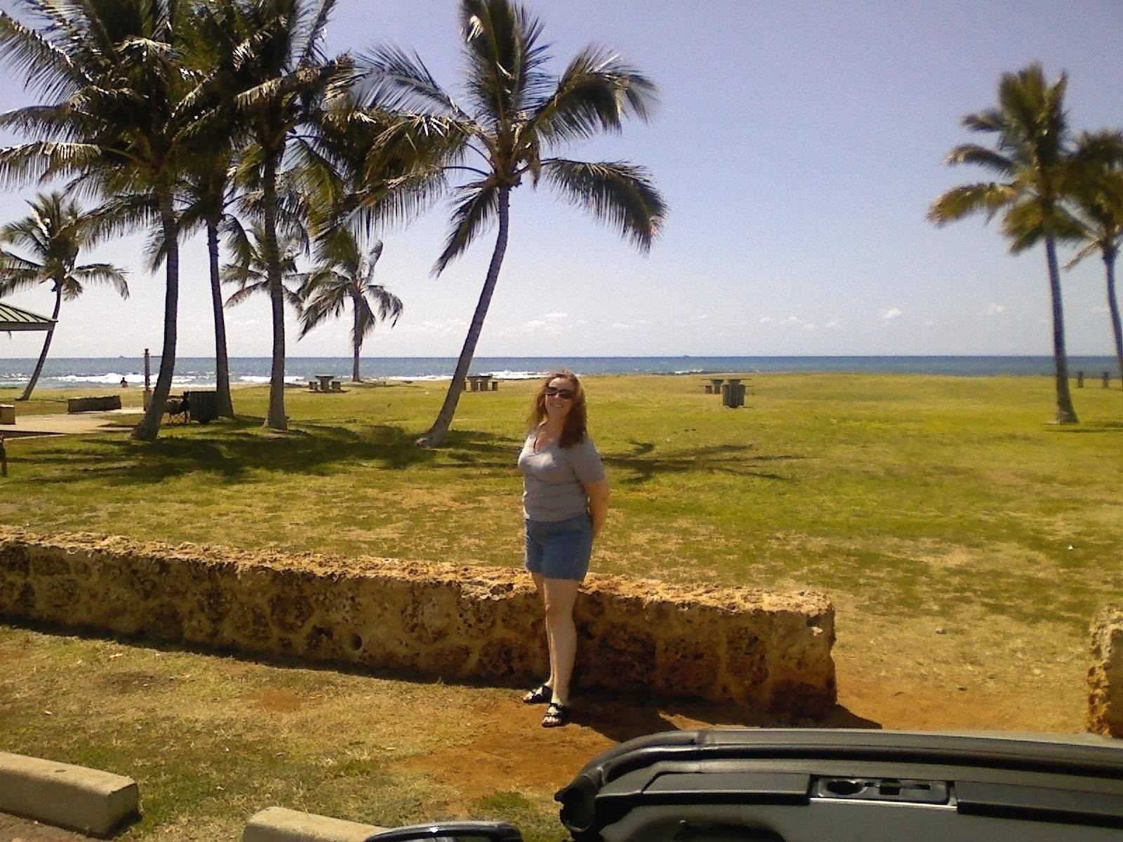 Laura Olsen of Elgin was in Hawaii Saturday, as the island braced for a possible tsunami.