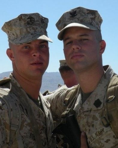 "Marine Lance Cpl. Joshua Birchfield, 24, left, was killed while on patrol in Afghanistan on Feb. 19. Navy HM3 Christopher ""Doc"" Marsh, right, said ""Josh was truly one of a kind. He was the glue that held his squad together."""