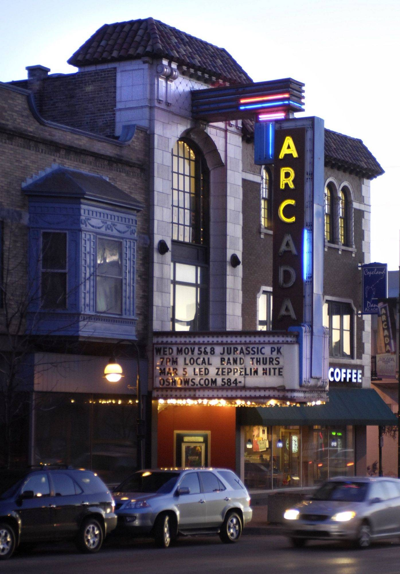The marquee at the Arcada Theatre in St. Charles will have a different look in the coming months thanks to a revitalization project.