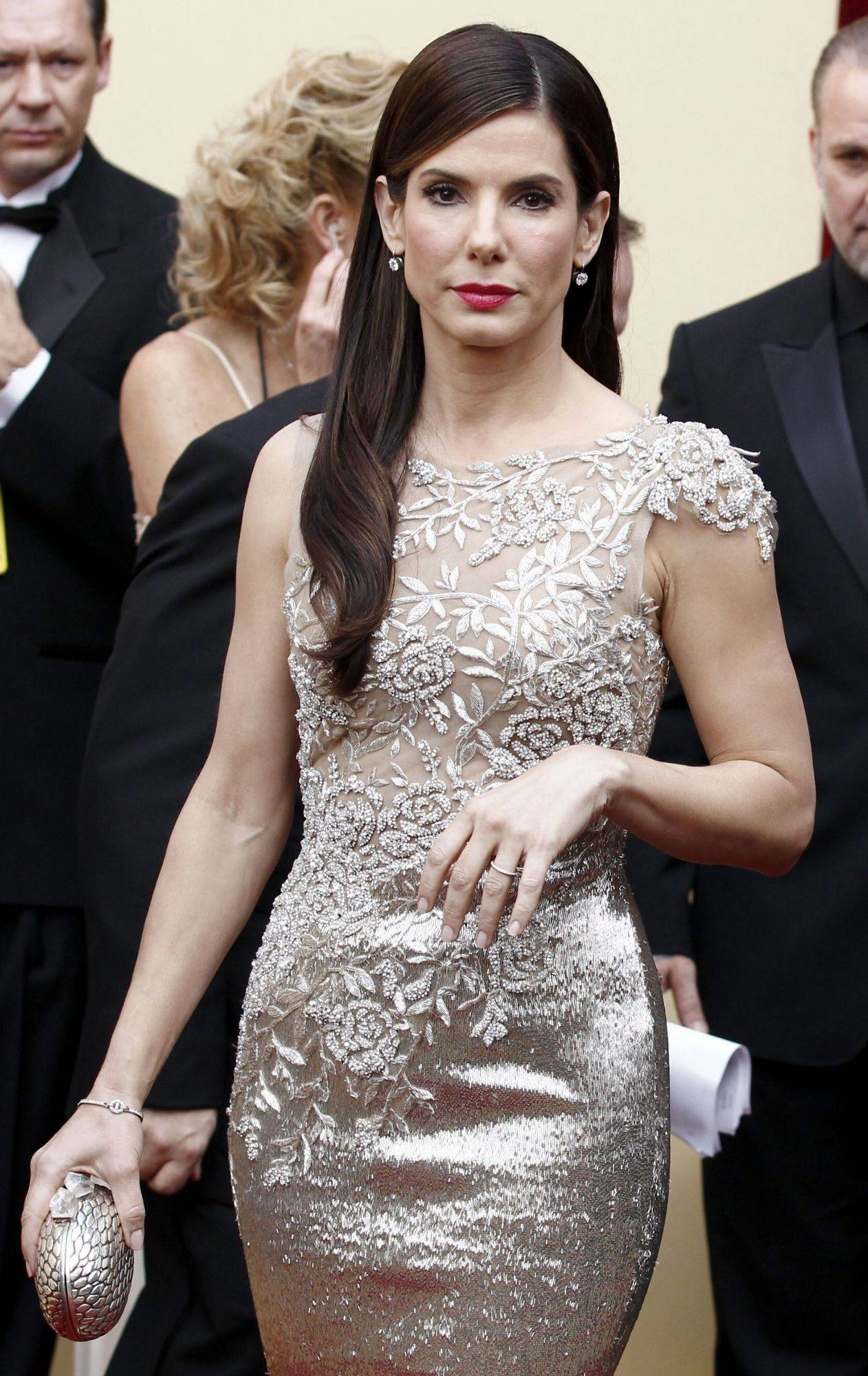 Sandra Bullock arrives during the 82nd Academy Awards on Sunday in Hollywood.