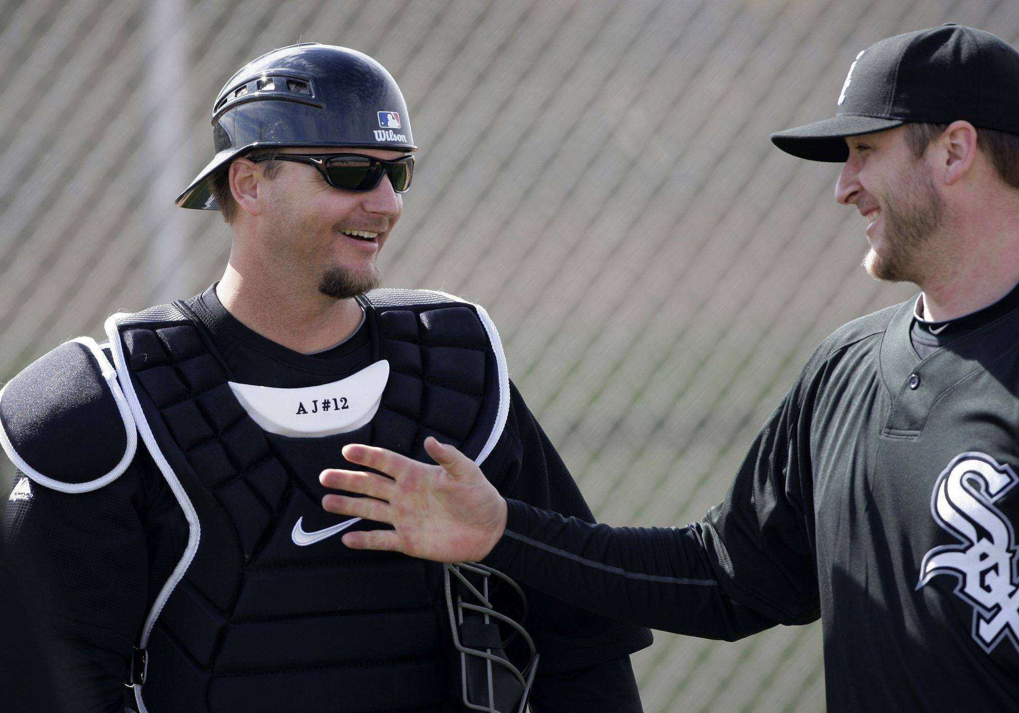White Sox catcher A.J. Pierzynski, left, always seems to have fun and still get the job done.