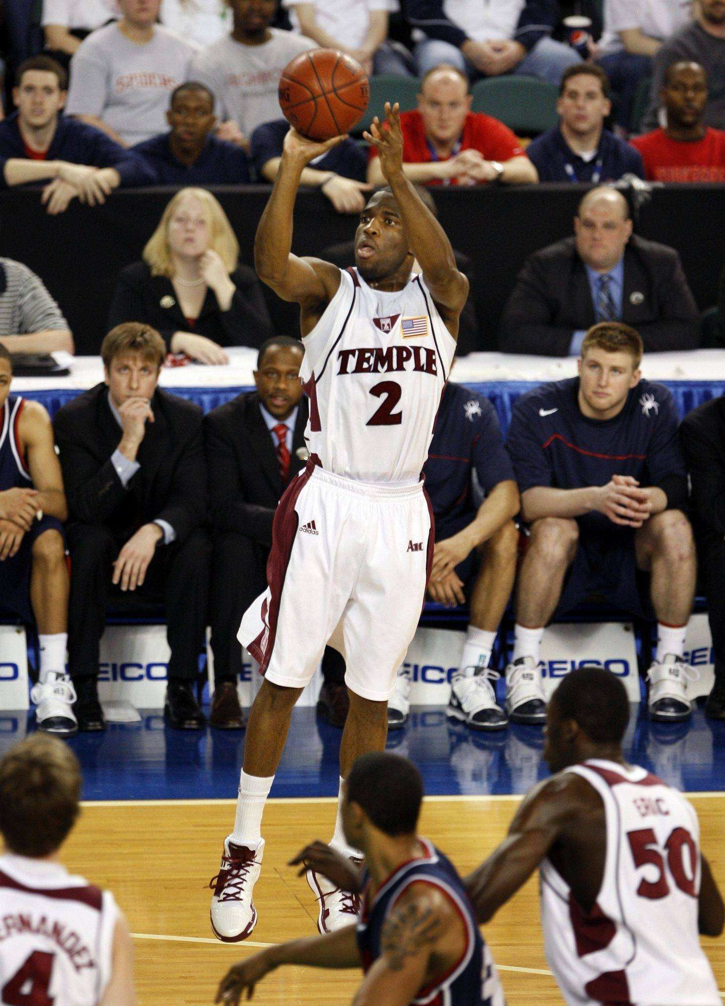 Temple's Ryan Brooks helped the Owls win their third straight Atlantic 10 title on Sunday, beating Richmond.