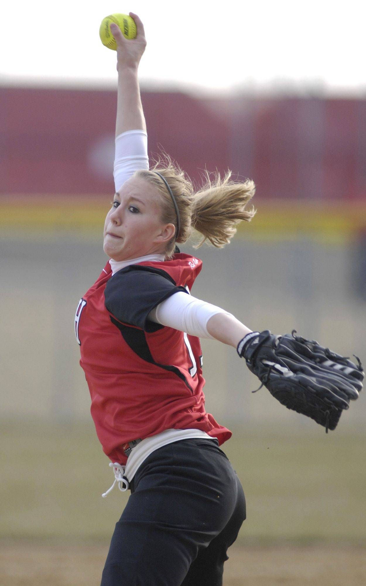 Huntley pitcher Taylor Larson beat Batavia Friday for her first varsity win.