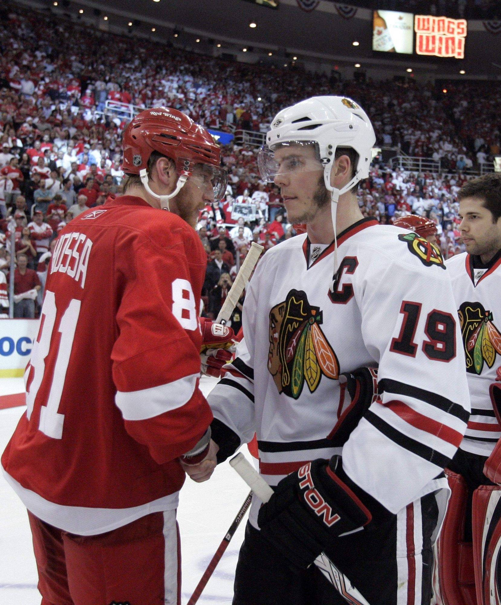 Marian Hossa has been to past two Stanley Cup Finals -- albeit with the Red Wings -- while Jonathan Toews and most of his teammates have all of three rounds of playoff experience.