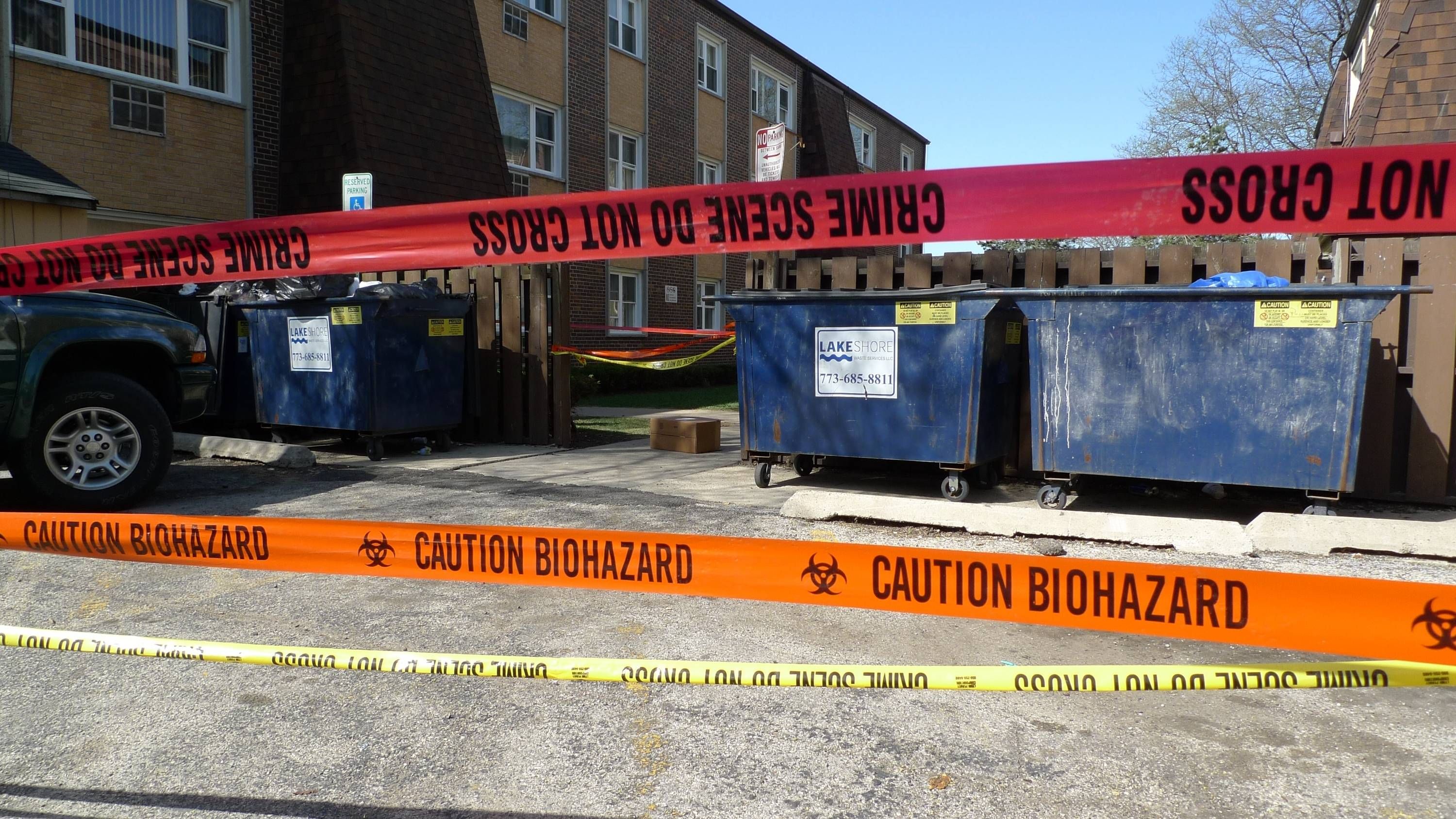 Arlington Heights police are investigating the discovery of a partial human corpse found in an alleyway behind 21 N. Dryden at the Marketview Apartments in Arlington Heights.