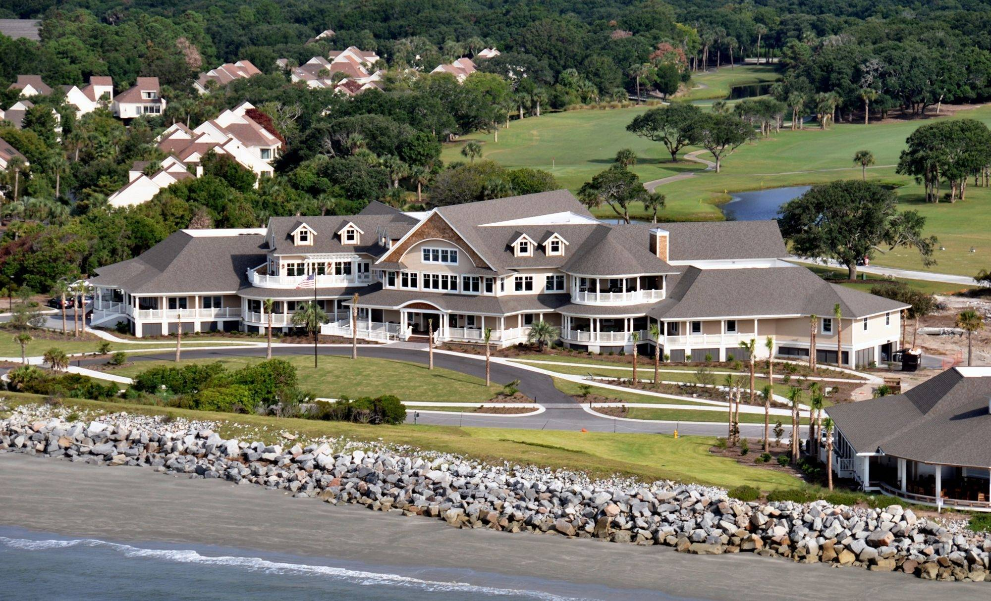 The clubhouse at Seabrook Island, S.C., where retired Palatine schools Superintendent John Conyers built a home.