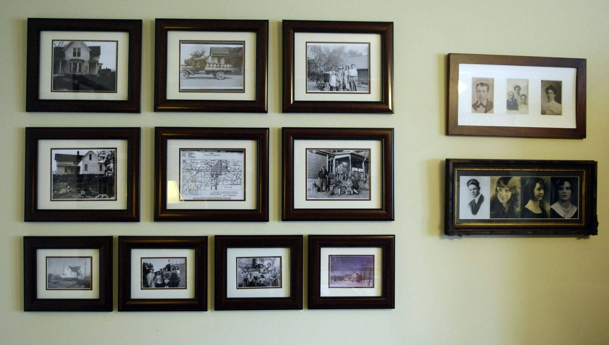 Adam Gibbons is a history teacher and genealogy buff and has filled his historic home with pictures from its past. The McKinley-Adams house at Kirk and Hill roads in Geneva has been designated a Kane County historical landmark.