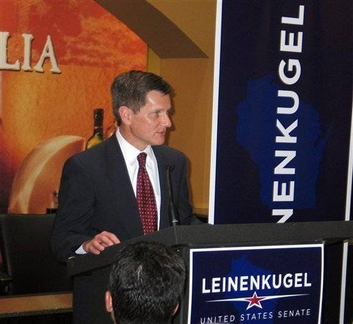 Dick Leinenkugel, the former Wisconsin commerce secretary, announces a Republican run for U.S. Senate on Monday in Milwaukee. He becomes the third GOP candidate vying to unseat Democratic incumbent Russ Feingold.