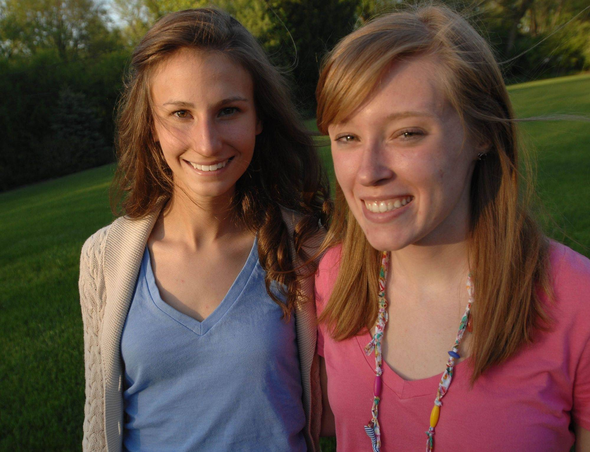 Kim Gaspar, left, and Mary Kate Nelson both would have been co-valedictorians, but Glenbard South no longer recognizes the designation.