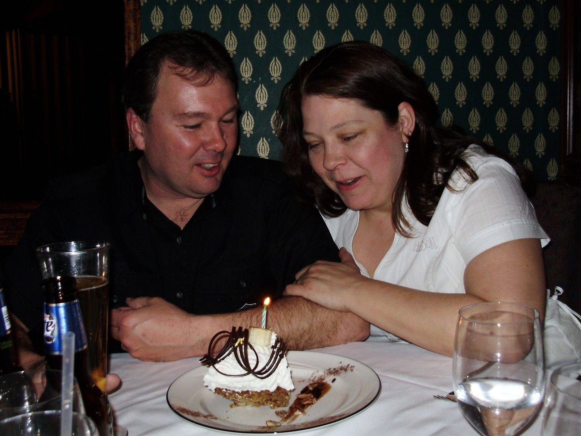 Wade and Denise Thomas of St. Charles were killed in a motorcycle crash May 23, 2009, near Elburn. The couple was married on March 18, 2008, and are shown here celebrating their first wedding anniversary.
