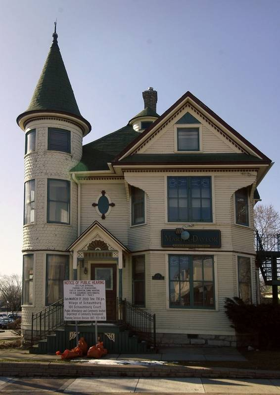 Schaumburg oks plans to renovate historic turret house for Home plans with turrets