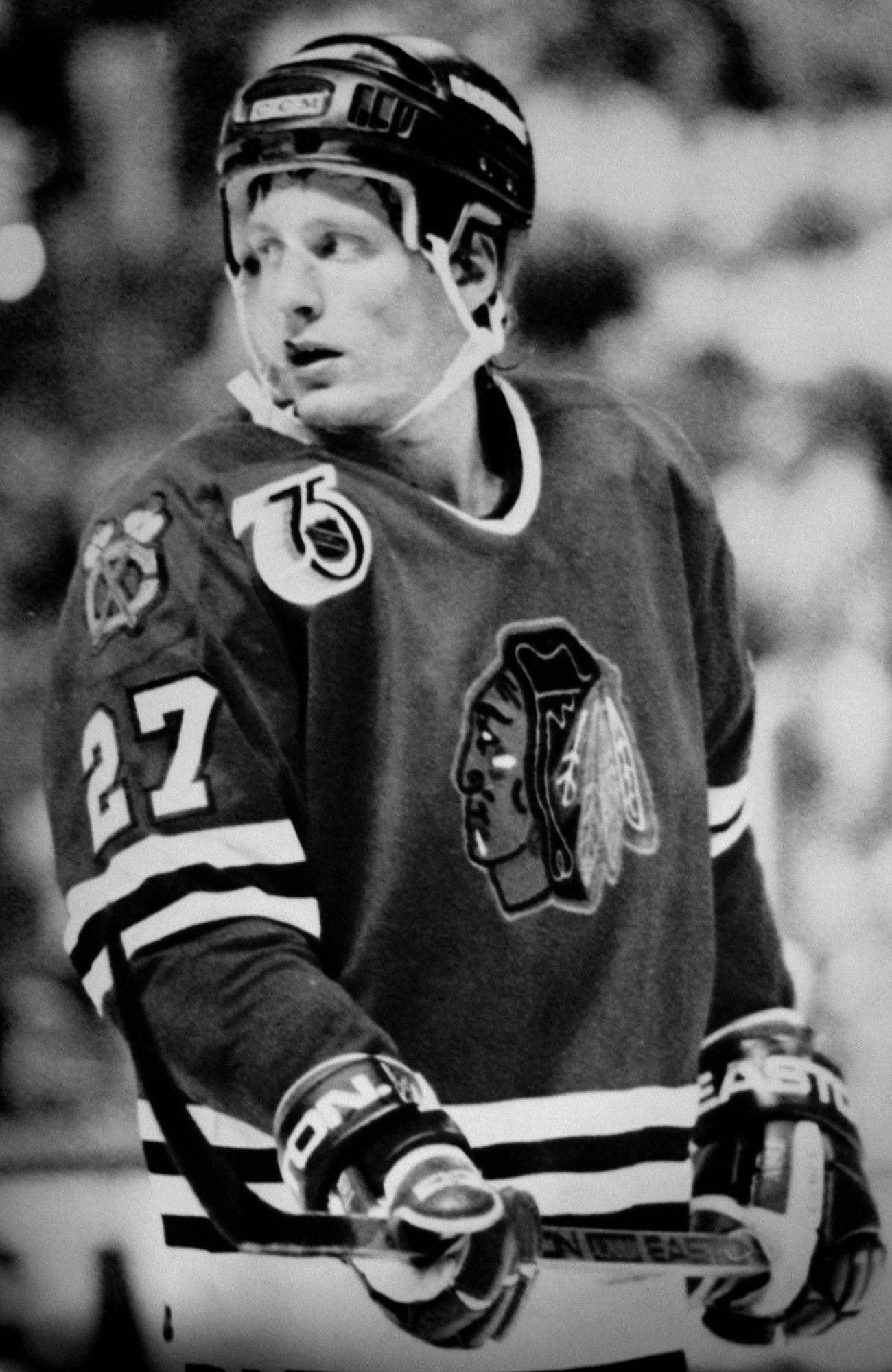 Jeremy Roenick of the Blackhawks was only 22 years old when he helped the Hawks reach the 1992 Stanley Cup Finals.