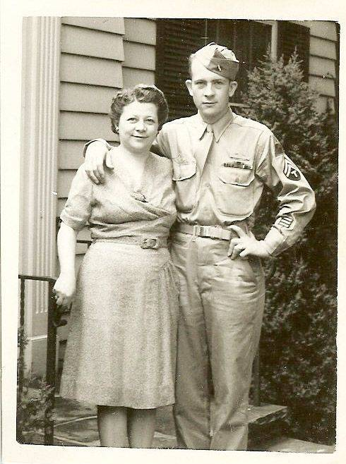 Lyle S. Wessale poses with his mother, Lillian.