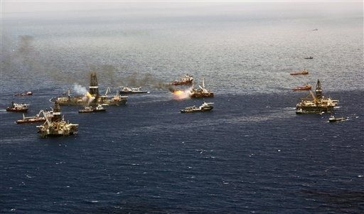 Giant oil skimmer being tested in Gulf of Mexico